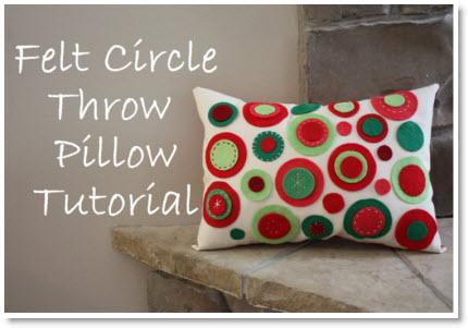 Felt Circle Pillow Tutorial