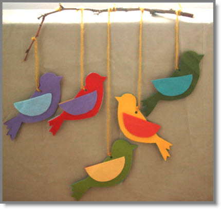 Felted Bird Mobile