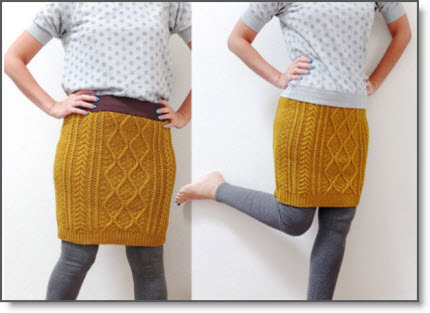 Easy Cable Knit Skirt
