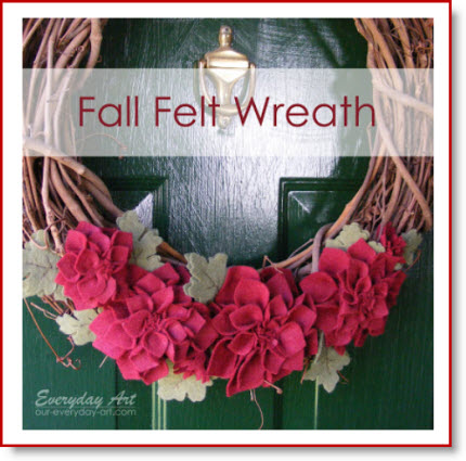 Fall felt wreath