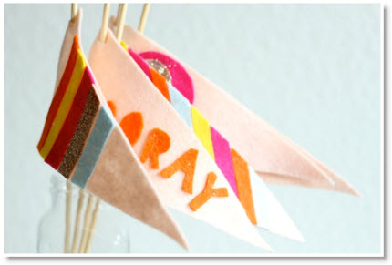 No-Sew Felt Flags