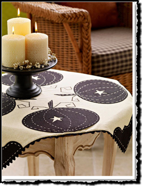 Pretty Pumpkin Tablecloth