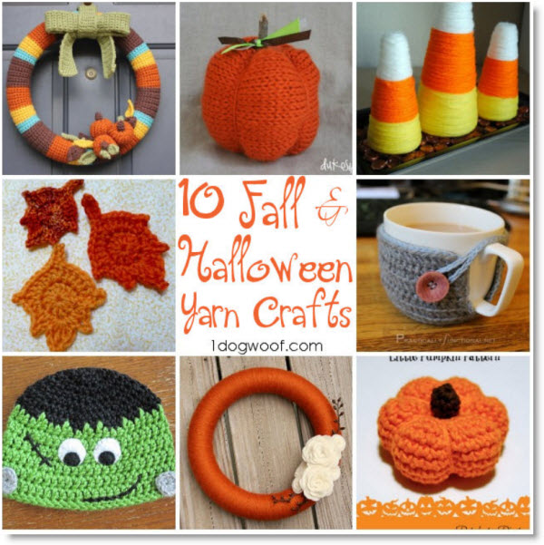 Halloween and Fall Yarn Crafts