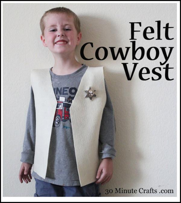 felt cowboy vest