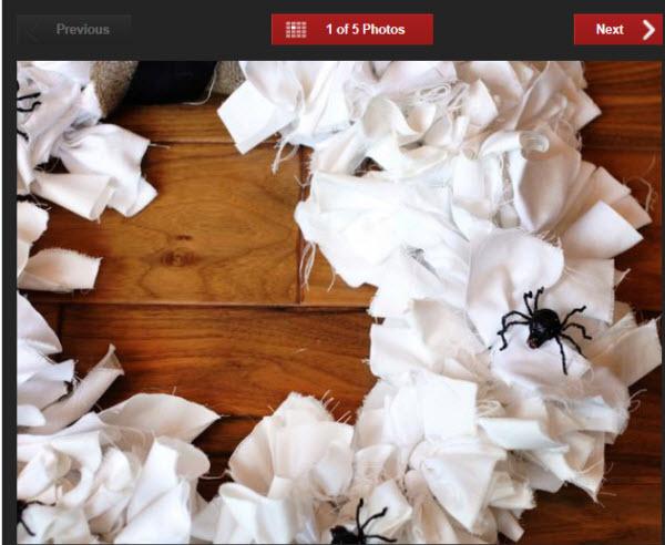 rag spider wreath