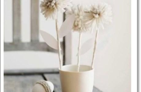 wool flowers