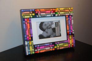 Crayon Frame Diy Gift Idea