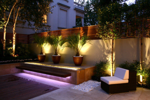 Eclairage Architectural Exterieur Designing Successful Small Gardens: Lighting, The Basic Do