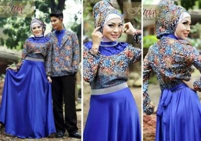 Contoh Model Baju Muslim Couple Populer Gaun Batik Trendy Dan