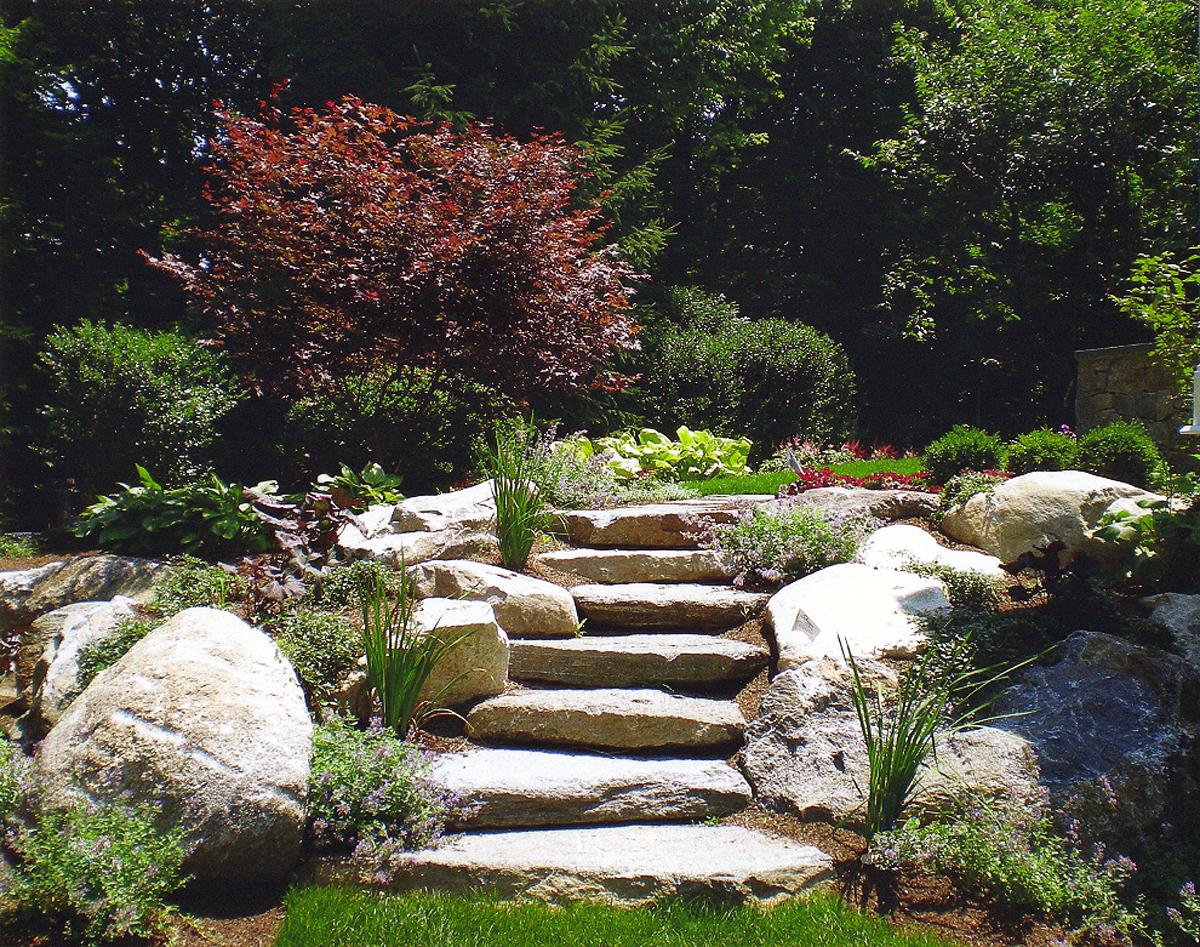 natural boulder step creations