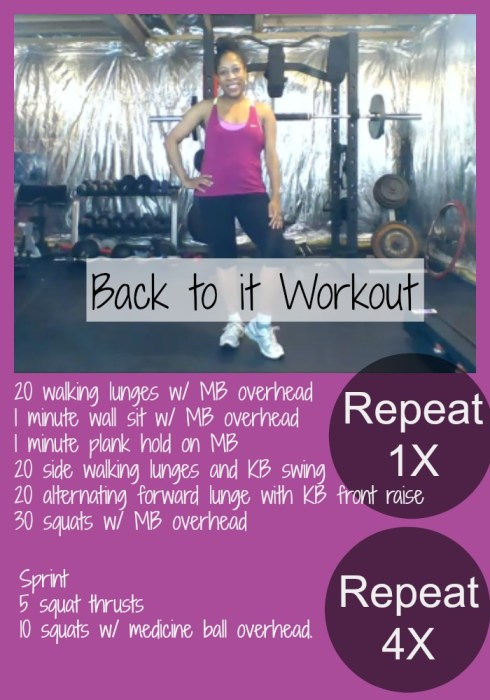 Back To It Workout