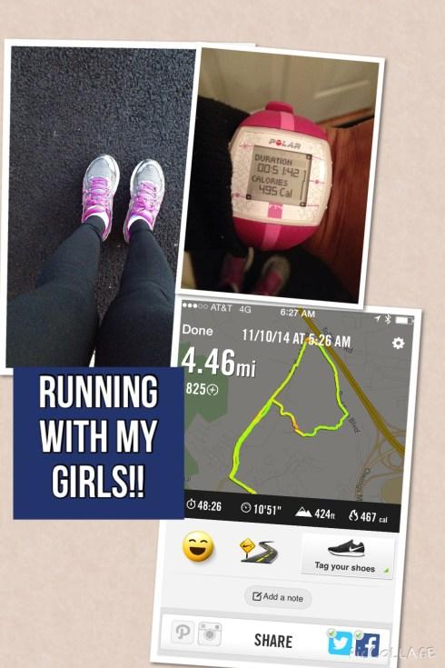 Running with my girls