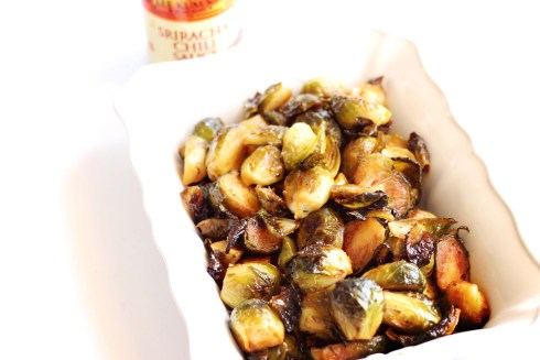 Delicious brussels sprouts with honey sriracha lime sauce