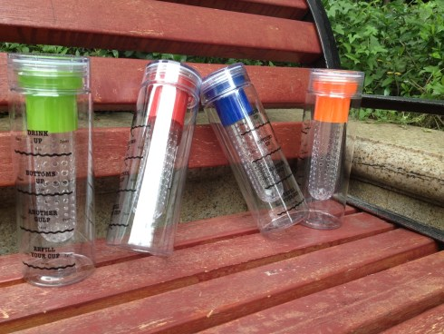 Infusion Water Bottles with Drink Tracker