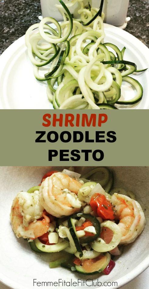 Shrimp Zoodles Pesto