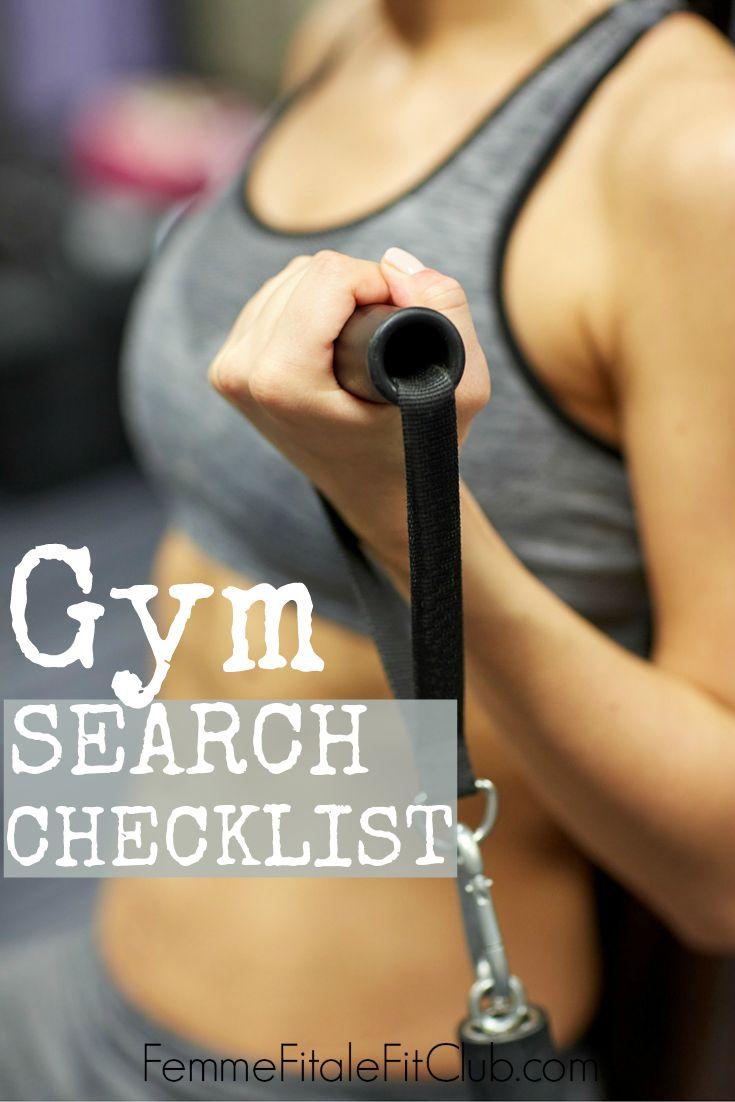 Gym Search Checklist