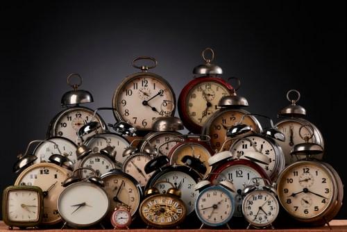 Collection of vintage alarm clocks
