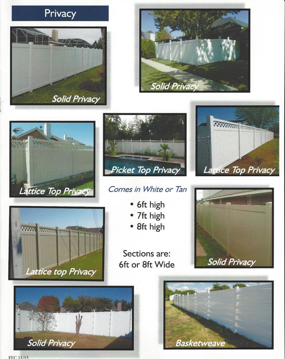 Diy Vinyl Fence Supplies Vinyl Privacy Fencing Affordable Commercial Quality Grade