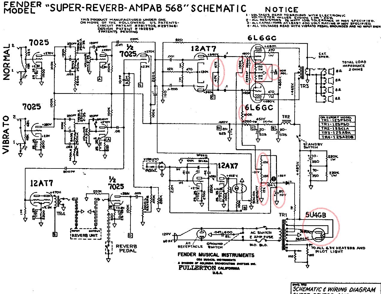 super reverb 2 ohm speaker wiring diagram