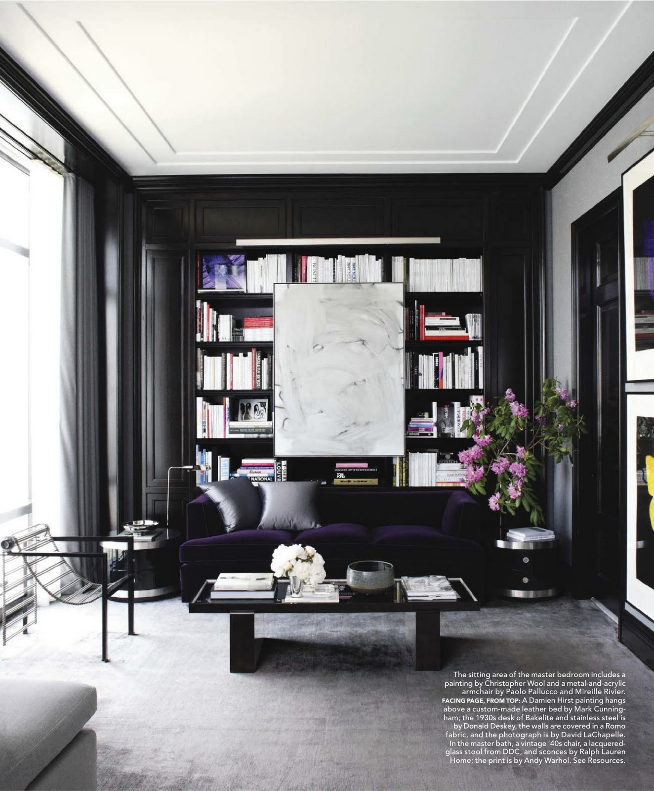 Black White And Purple Living Room Black Walls At Home Feng Shui Interior Design The Tao