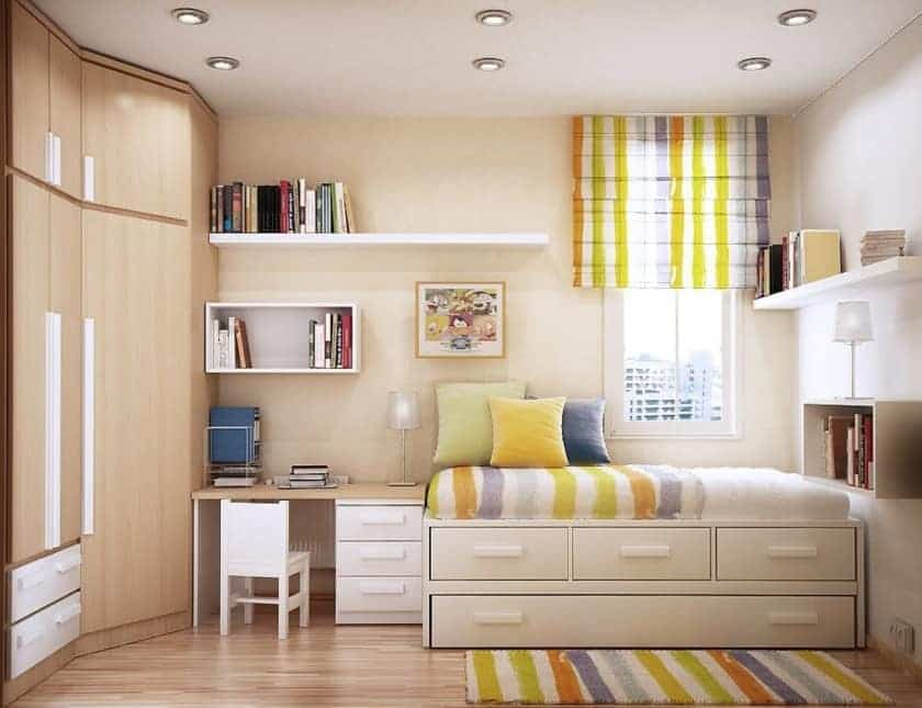 Feng Shui Furniture Arrangement in a Bedroom and Study Room - bedroom living room combo