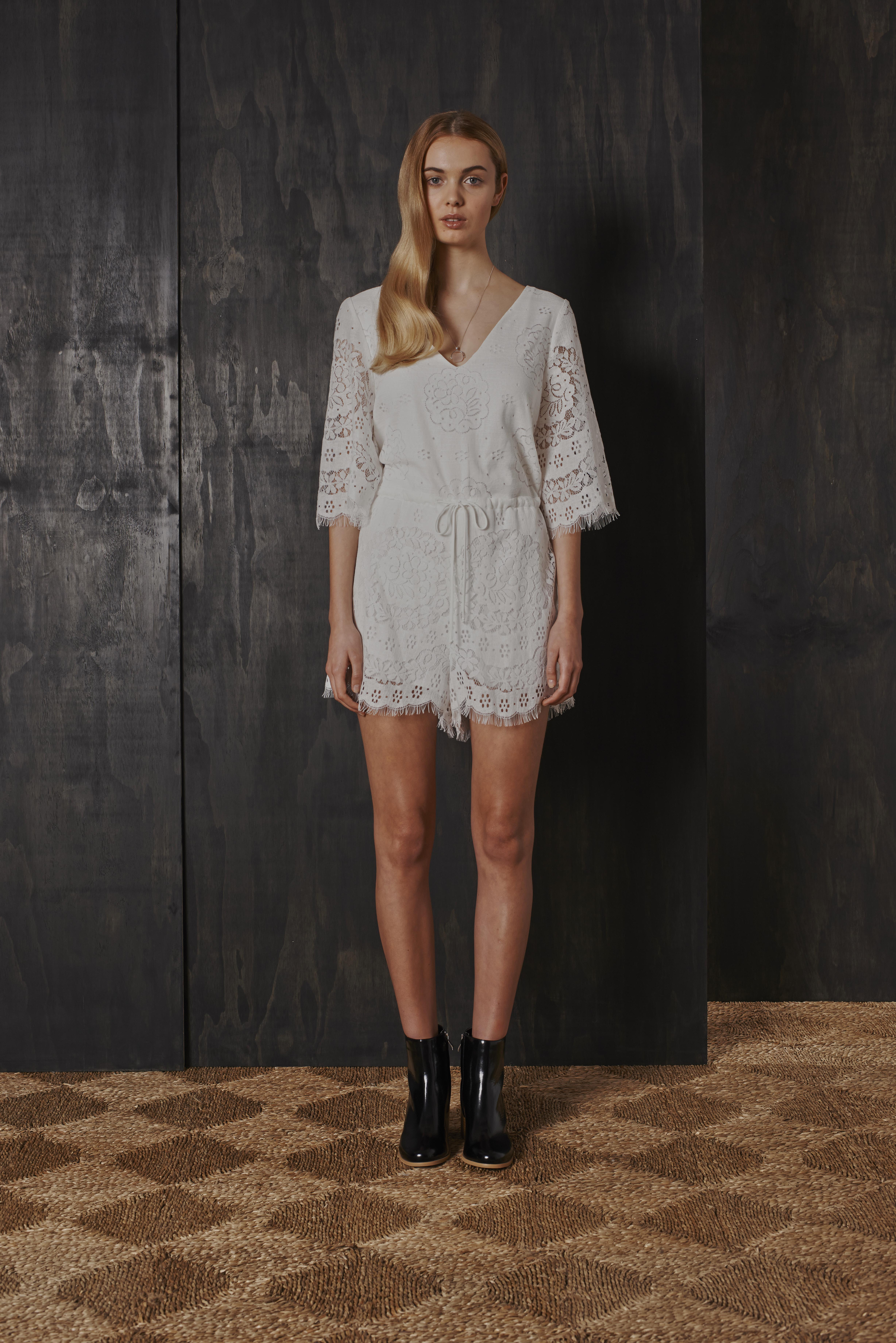 RUBY Gossamer Playsuit & Willow Boot (white)