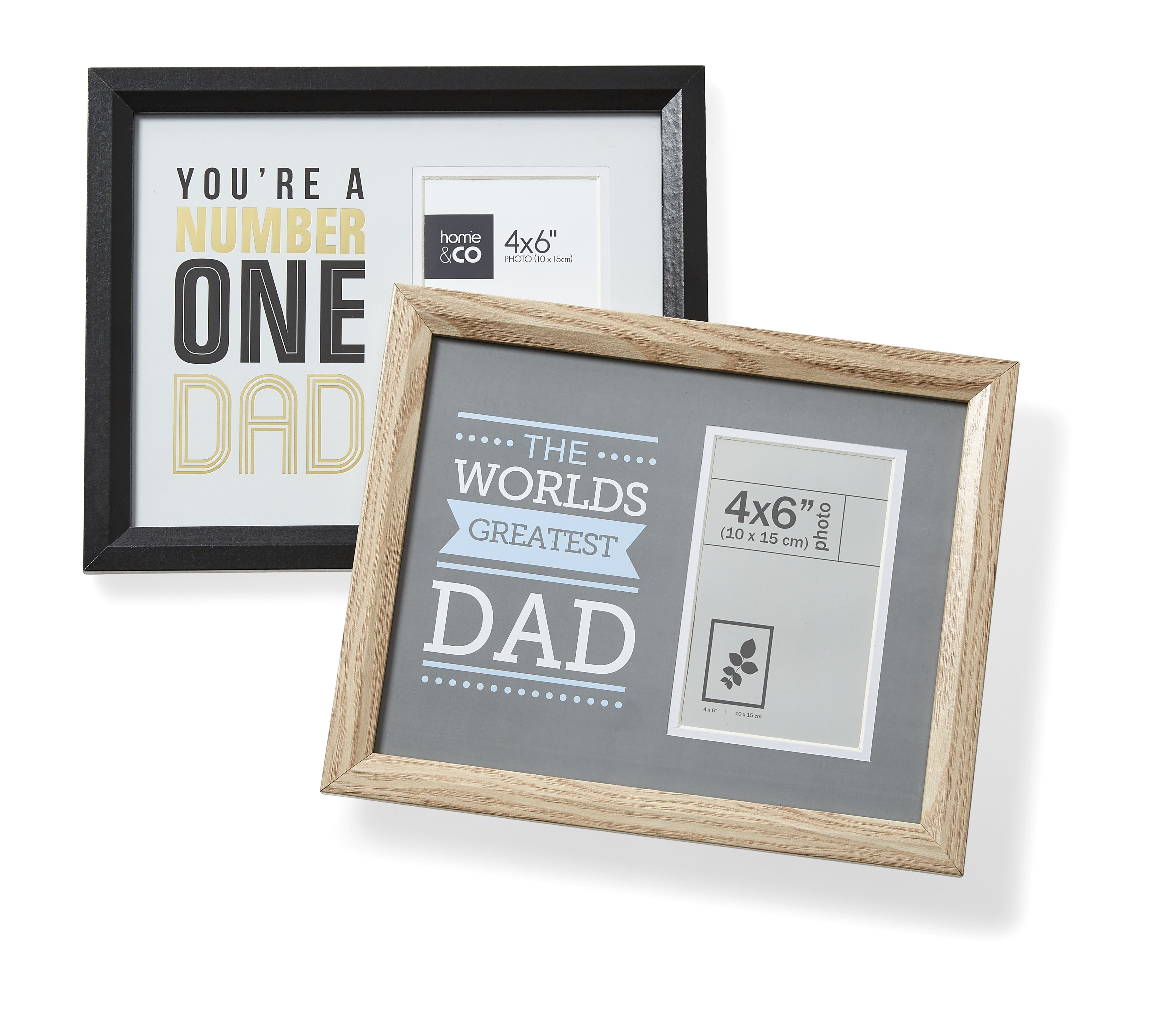 Kmart You're a Number One Dad or The World's Greatest Dad 4in by 6in Frame, RRP$5.00
