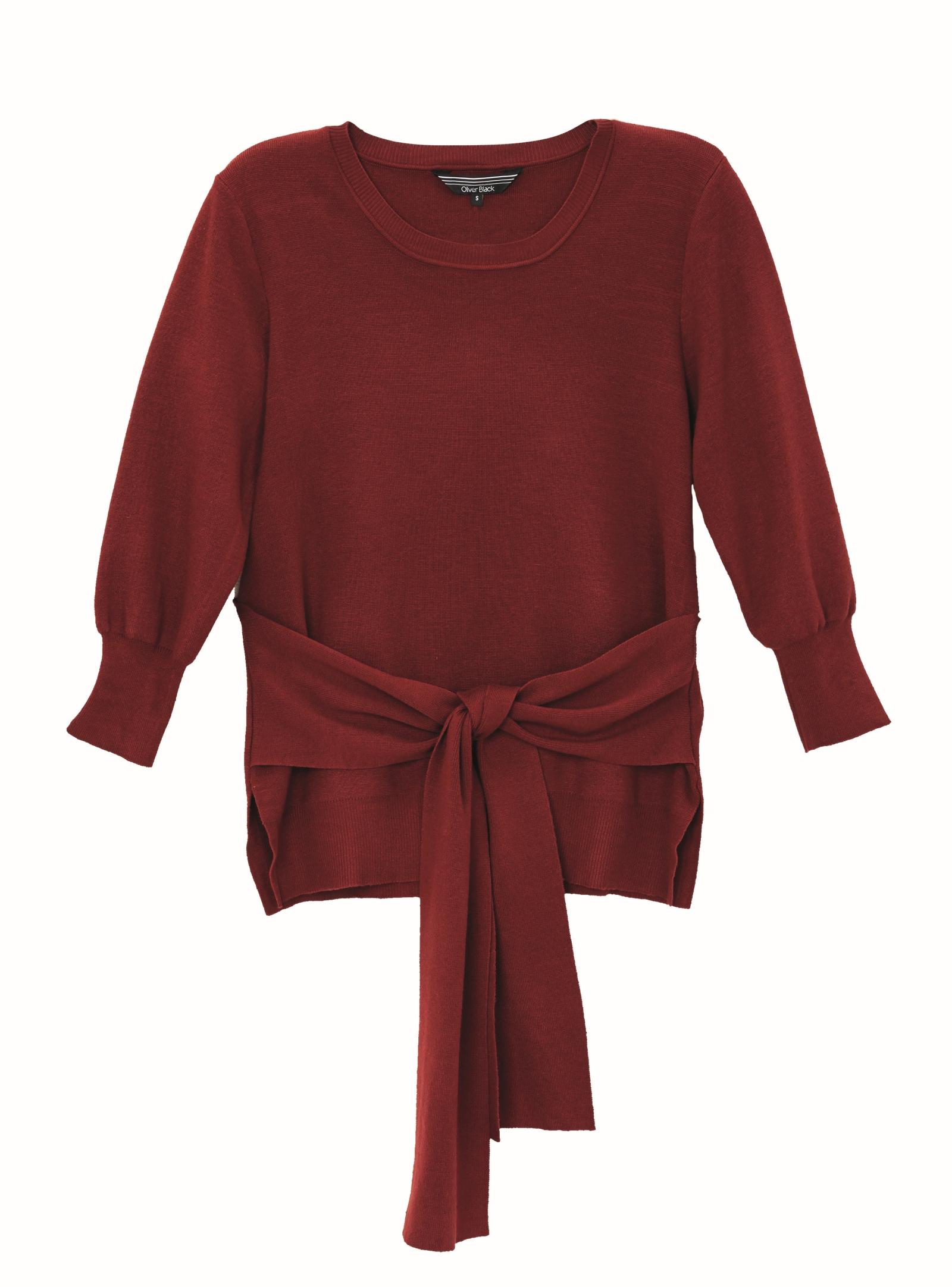 Oliver Black Knit Tie Top $79.99