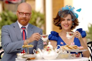 THE ROYAL WEDDING LIVE -- Pictured: Will Ferrell and Molly Shannon as Cord and Tish Courtesy of HBO.