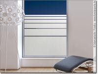 Folie fr Fenster mit Streifen   Fensterperle.de