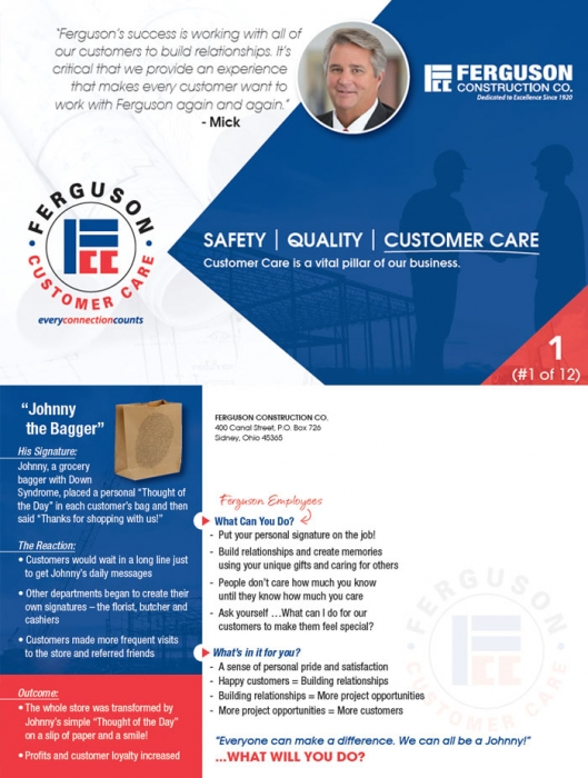 Ferguson Construction Customer Service Ferguson Construction Company