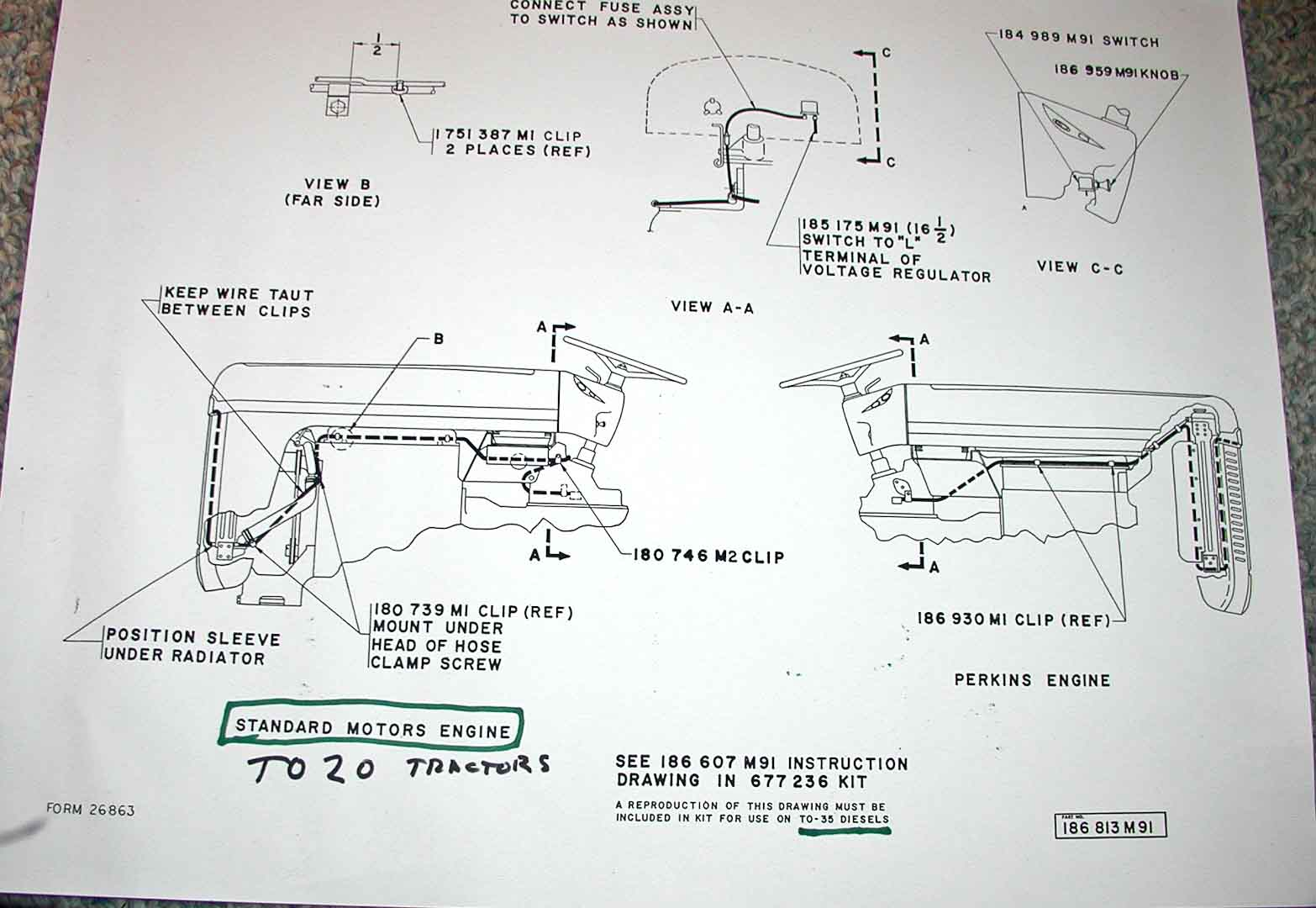 Ford 2n Tractor 6 Volt Wiring Diagram Electrical And Lighting Diagrams Ferguson Enthusiasts Of