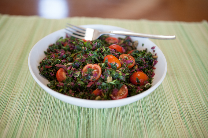 holiday kale curtido salad-6