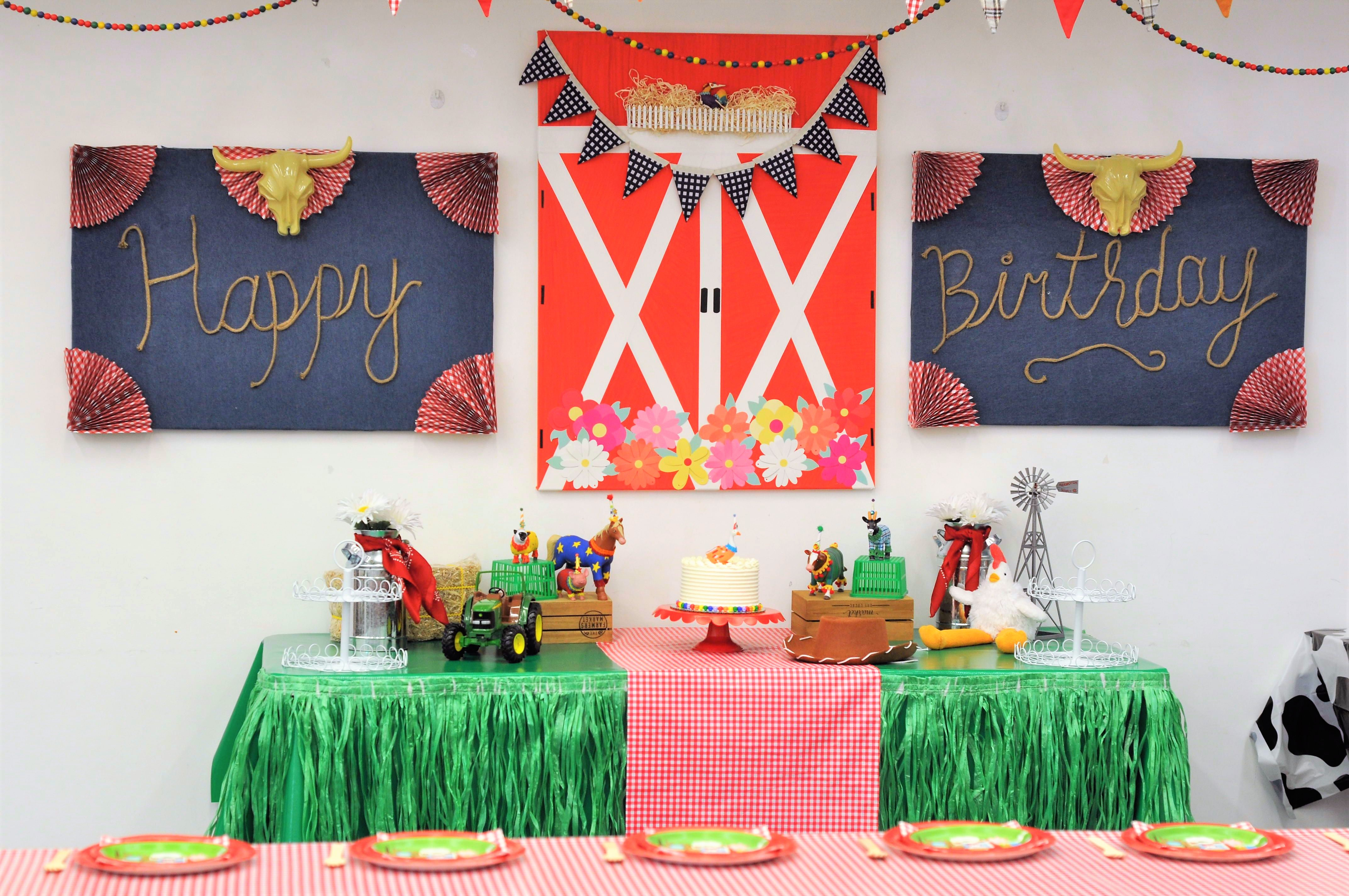 Barnyard Theme 1st Birthday Party Decor Fern And Maple