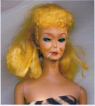 "Barbie on a Very tight Budget: A Surprise Find  ================================================  Crystal Meth Barbie DOLL : It ain't ""Pretty these Day"", found out KEN is on the downlow.  Barbie poses while ""High on Crack""...poor, innocent little thing."