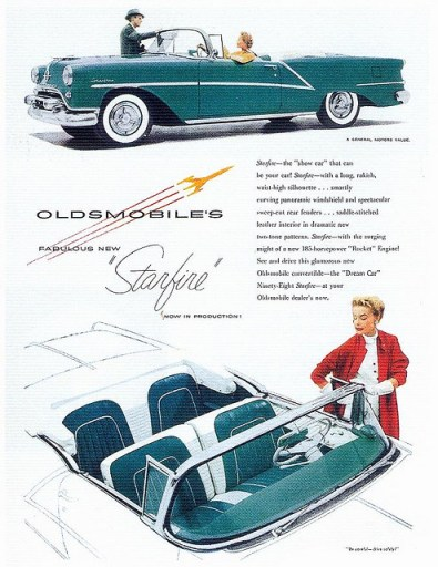 1954 Oldsmobile advertisement.