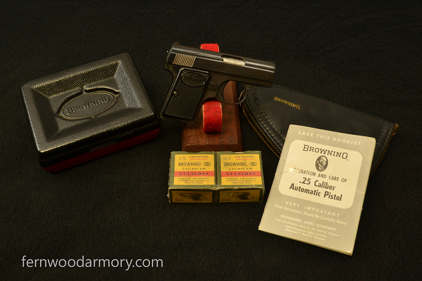Baby Browning 25 Acp 6 35mm With Factory Box Manual