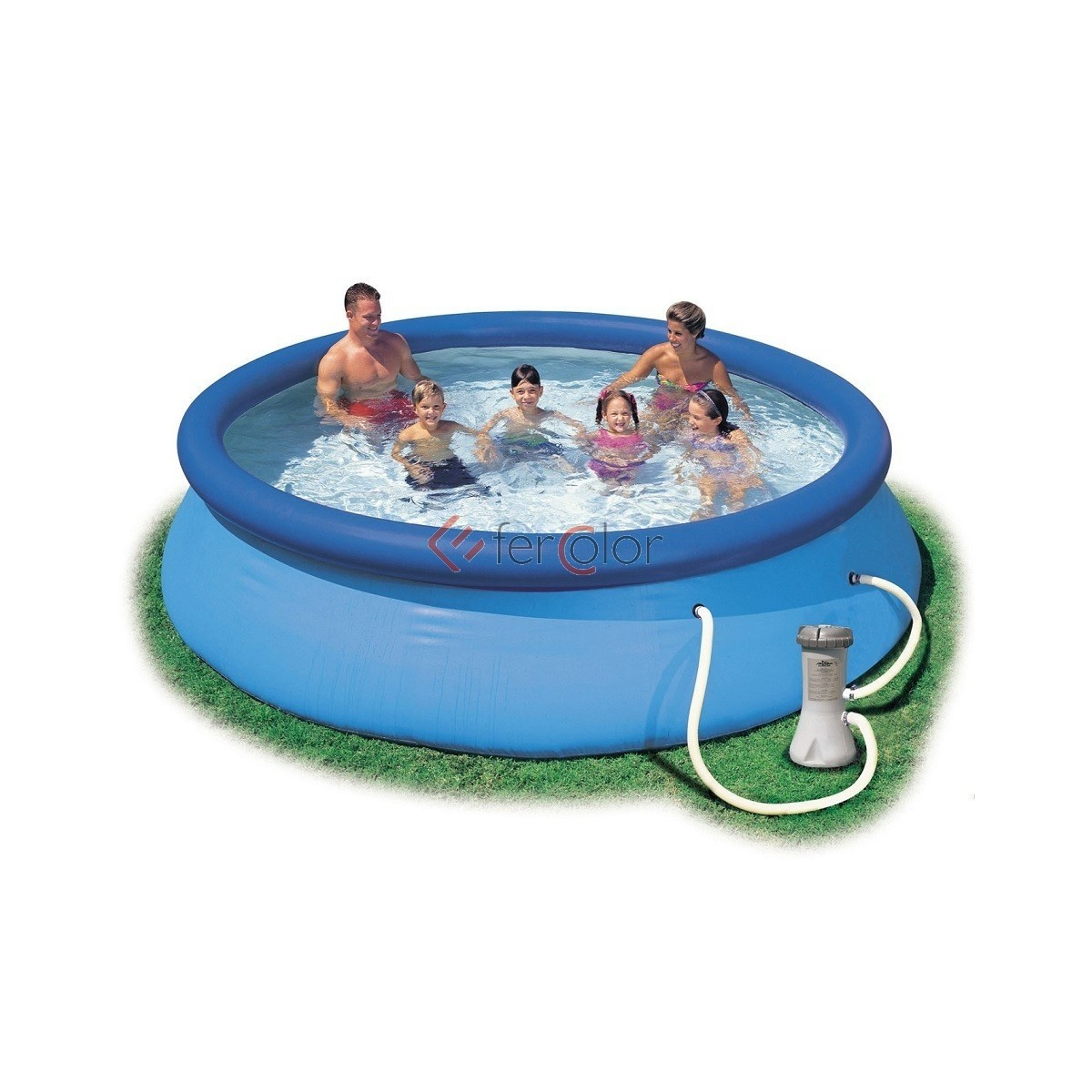 Intex Piscina Gonfiabile Piscina Intex Easy Set 366x76 Tonda Con Pompa Filtro