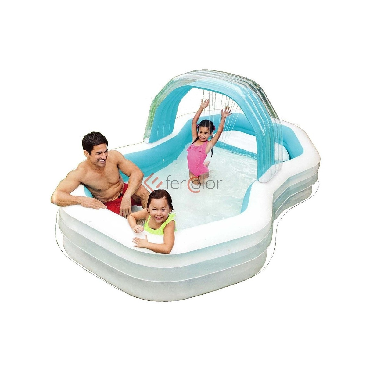 Intex Piscina Gonfiabile Piscina Gonfiabile Intex Family Cabana Swim Center Art