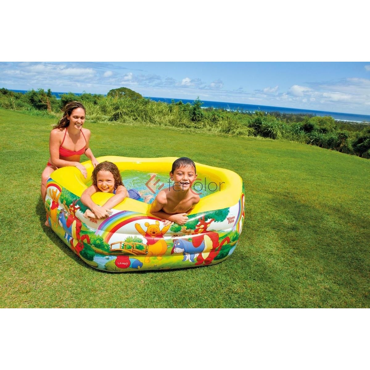 Intex Piscina Gonfiabile Piscina Gonfiabile Esagonale Intex Bambini Winnie The Pooh