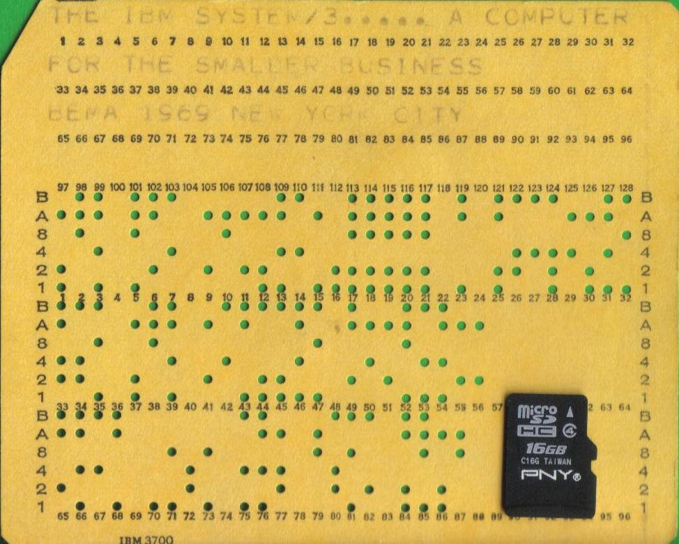 How many punched cards fit in a flash drive? - punch cards