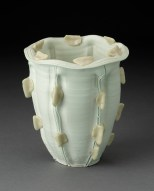 "Rudolf Staffel, ""Untitled Vessel"" 1975, porcelain, 7.25 x 6.25"". (Pennington)"