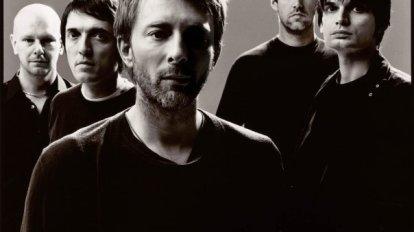 Radiohead Group Shoot Black White 2008