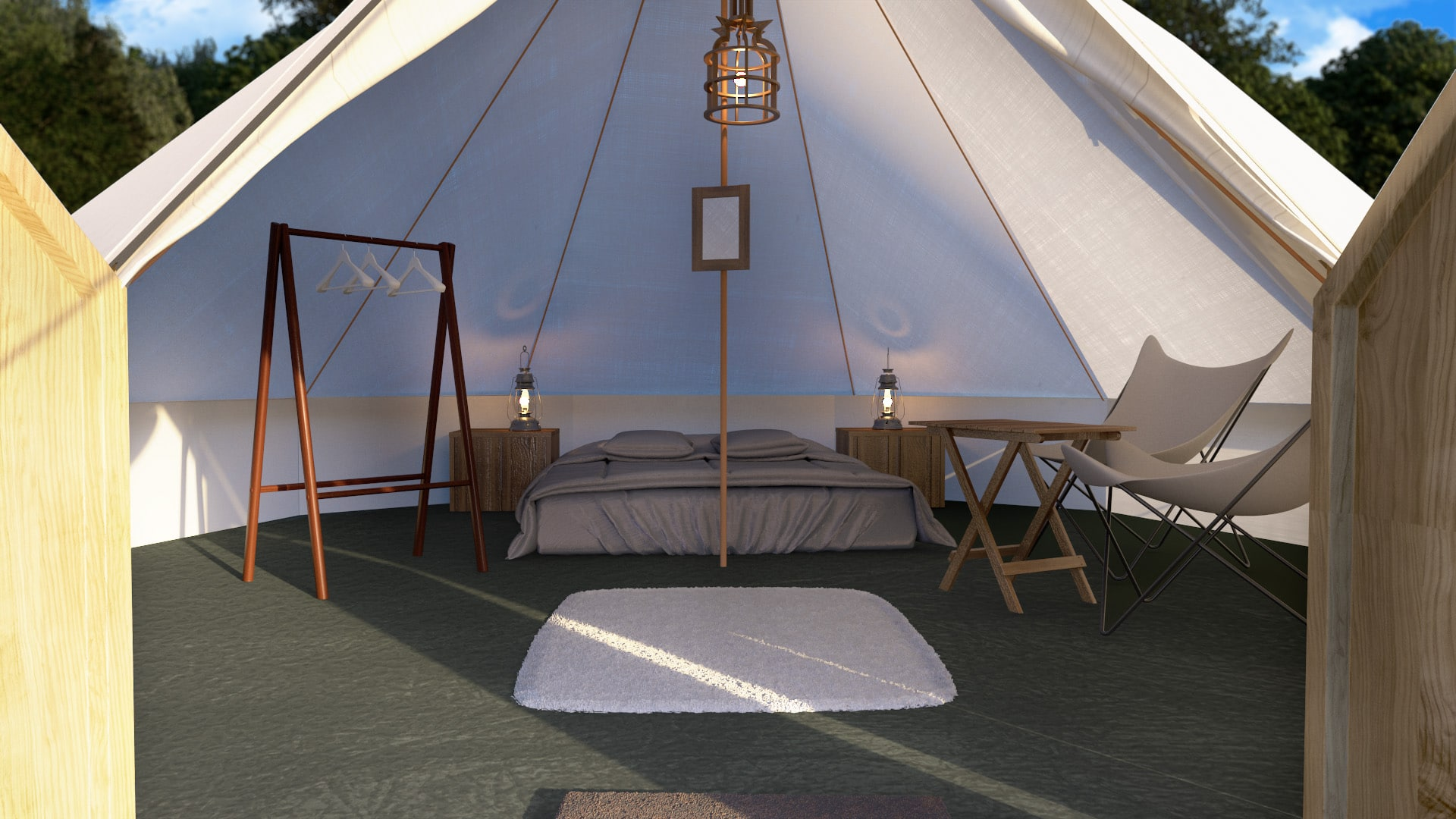 Battery Powered Vanity Light The Luxury Bell Tent - Festival Number 6