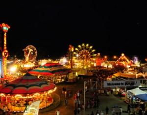 western idaho midway carnival at night