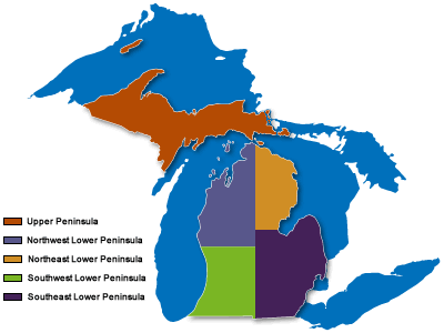 Michigan regional festivals MI event map
