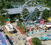 Midway carnival image Schaumburg Prairie Arts Festival 2015 in Illinois