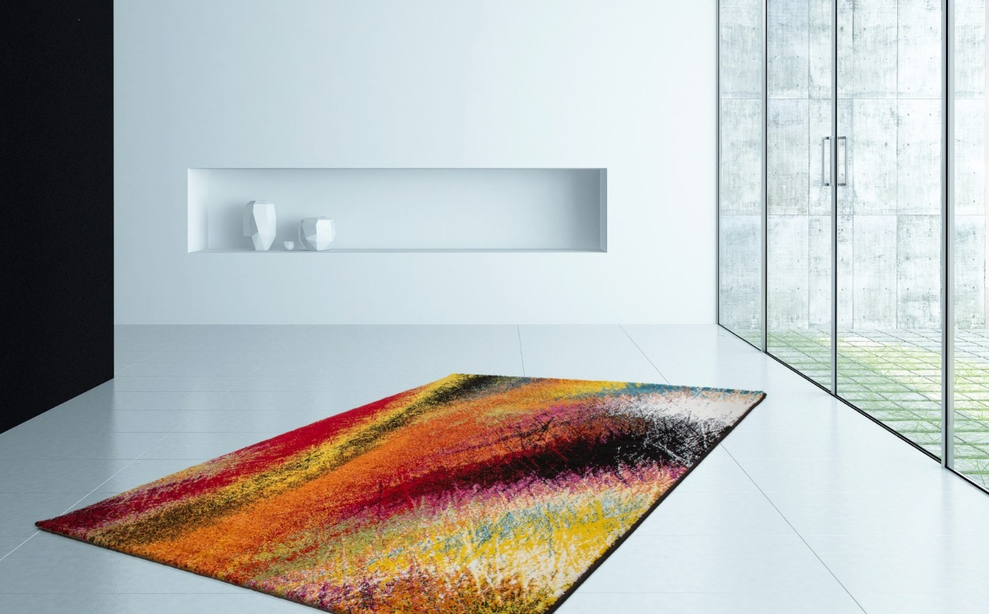 Tapis Laine Salon Tapis Design Pour Salon Moderne Multicolore South Pas Cher