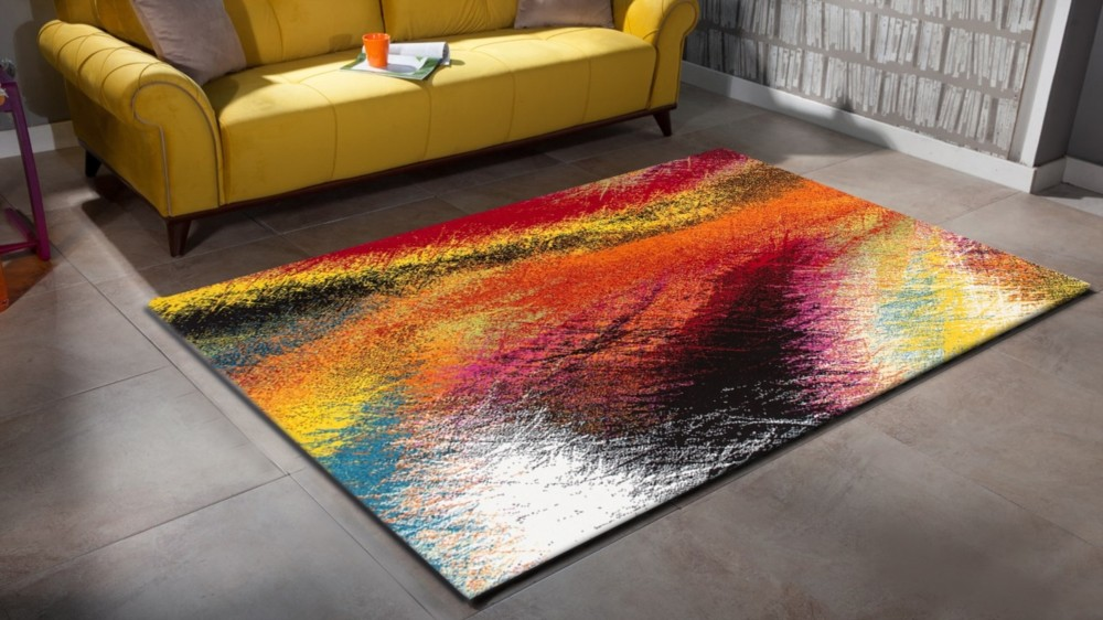 Tapis Rouge Salon Pas Cher Tapis Design Pour Salon Moderne Multicolore South Pas Cher