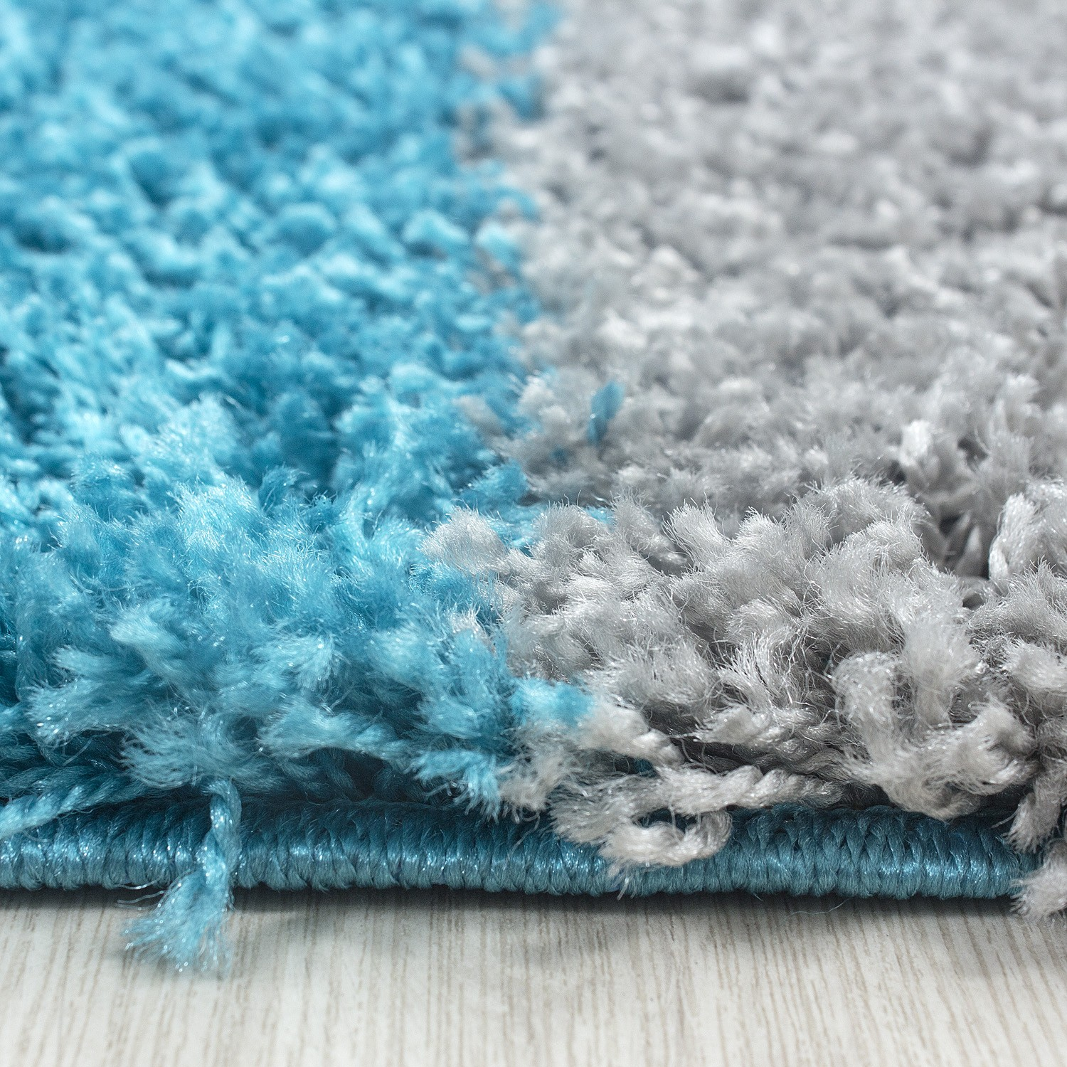 Tapis Shaggy Turquoise Tapis Rond Turquoise